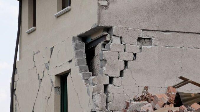 house after earthquake
