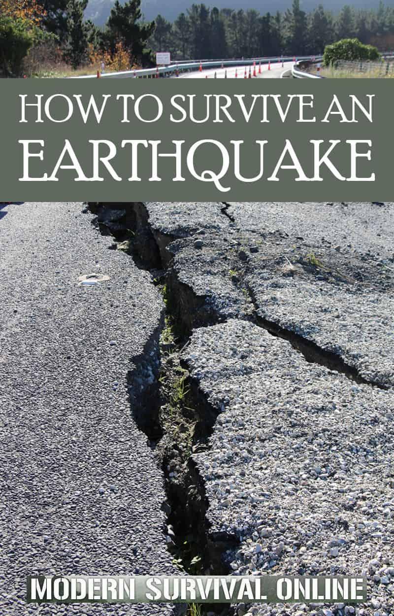 surviving an earthquake Pinterest image
