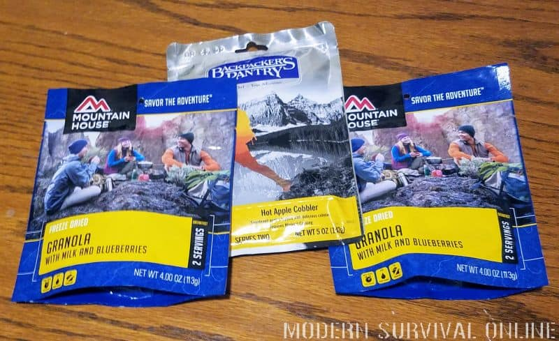 Mountain House freeze-dried meals