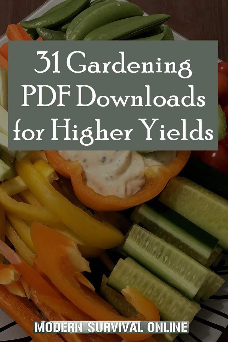 gardening manuals pin image
