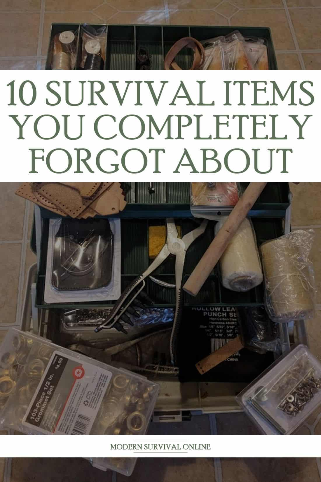 forgotten survival items pinterest