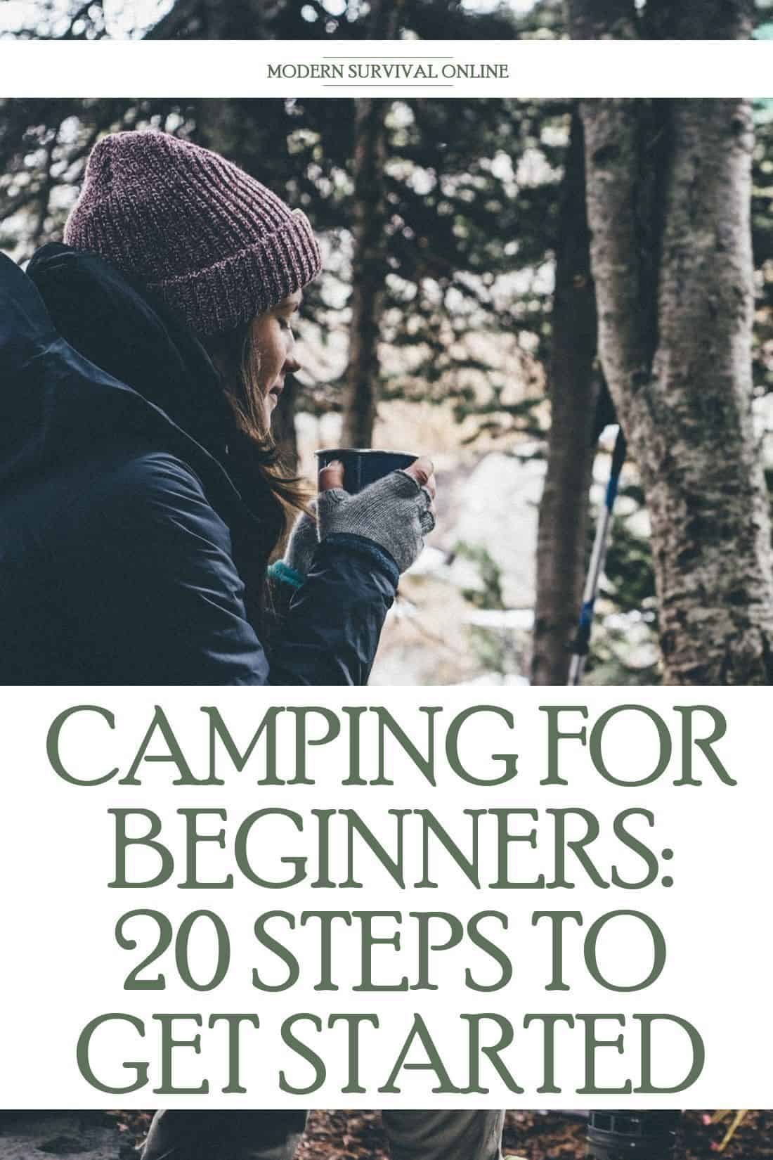 beginner camping tips pin image