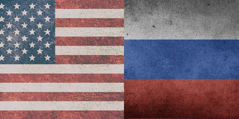 U.S. and Russian flags