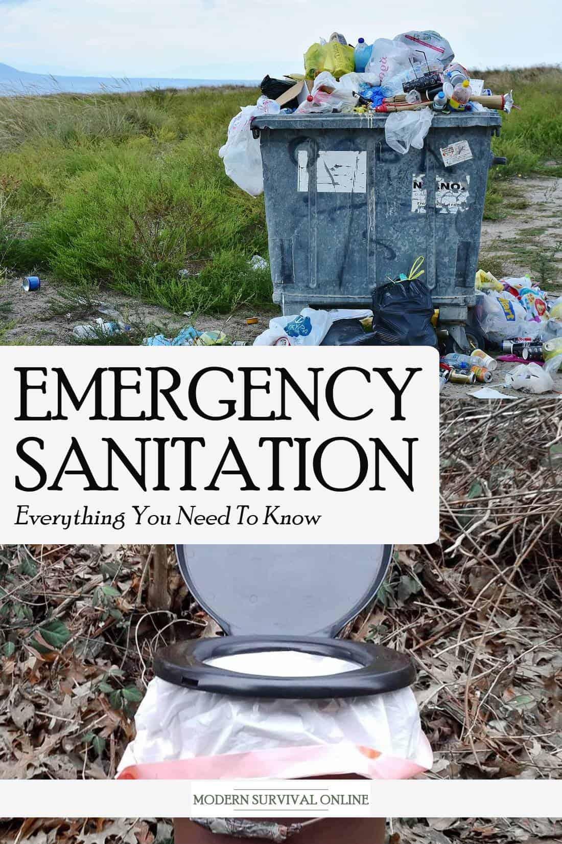emergency sanitation Pinterest image