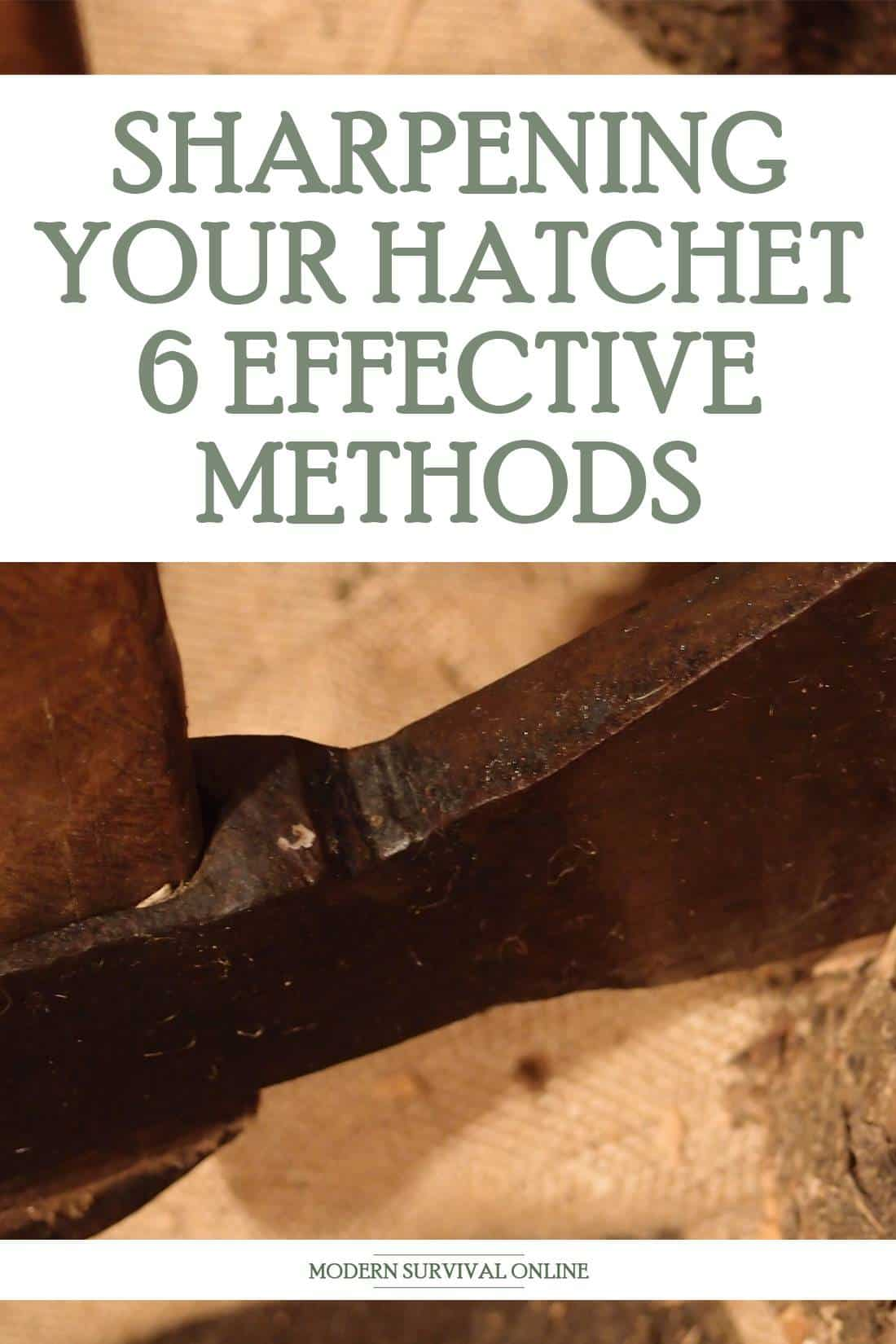 hatchet sharpening pinterest