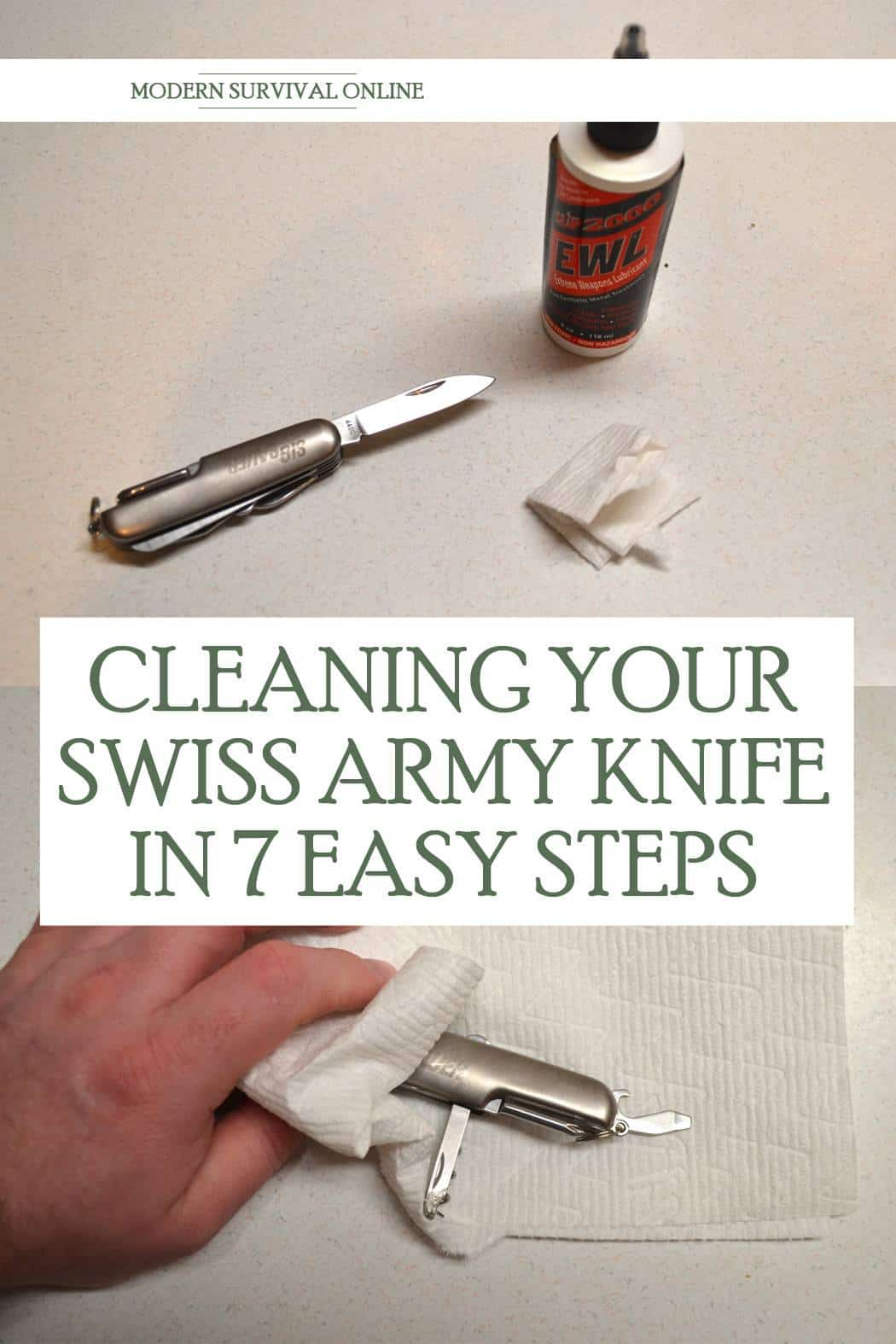 cleaning Swiss army knife pinterest
