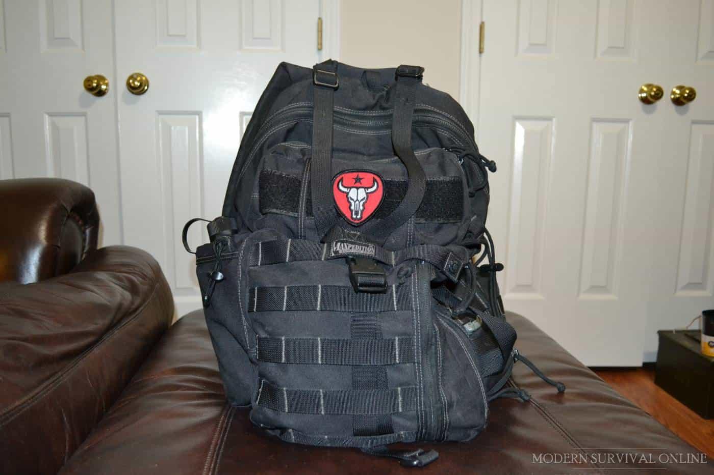 typical get home bag backpack
