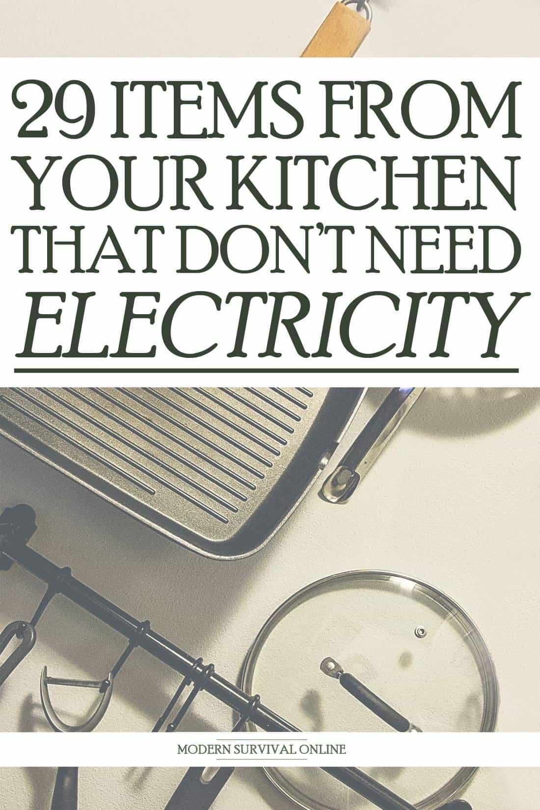 manual kitchen items pin image