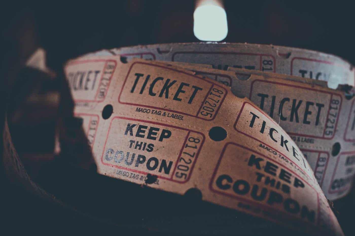 old movie tickets
