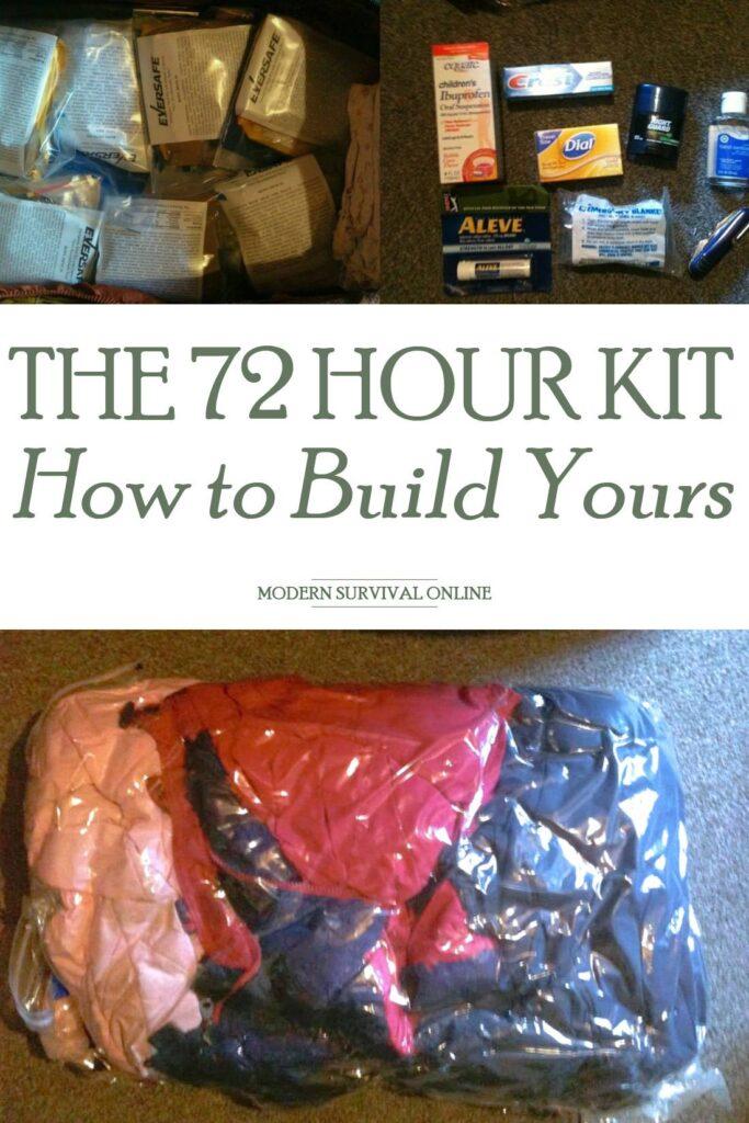 72-hour kit Pinterest