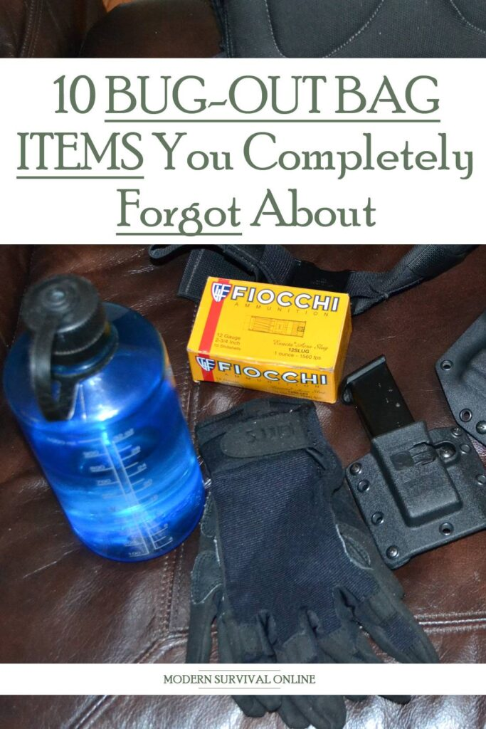 forgotten bug out bag items Pinterest