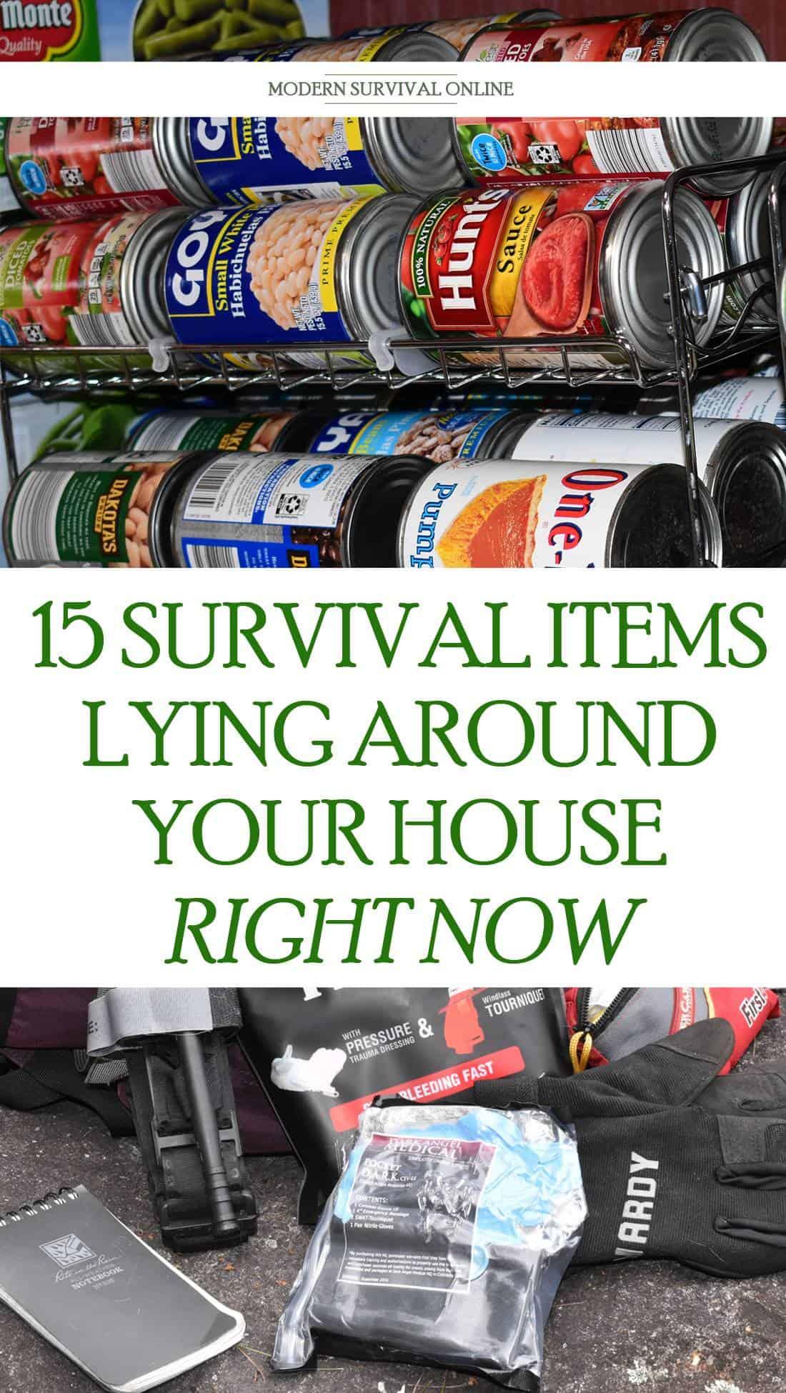 household survival items Pinterest