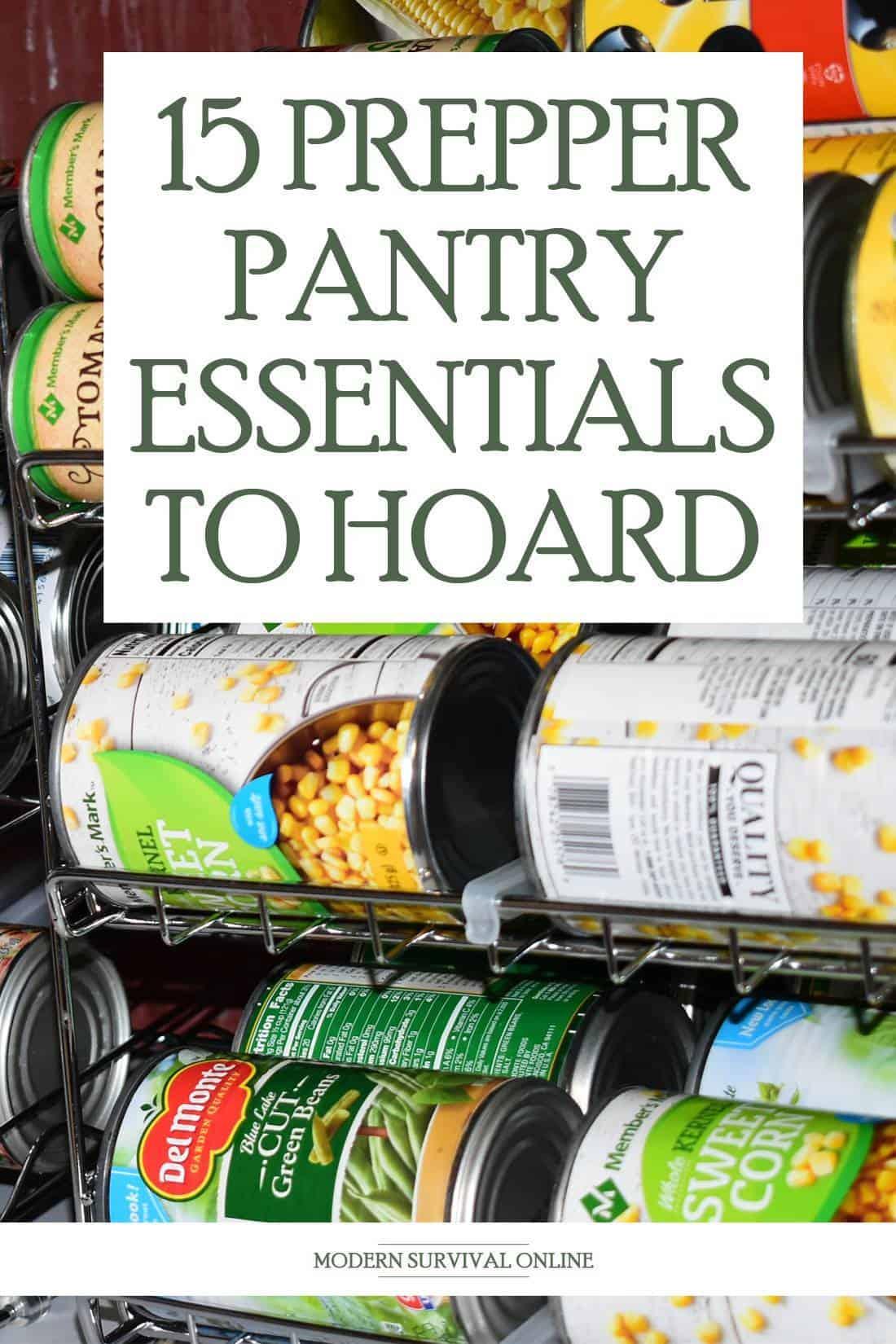 pantry essentials Pinterest image