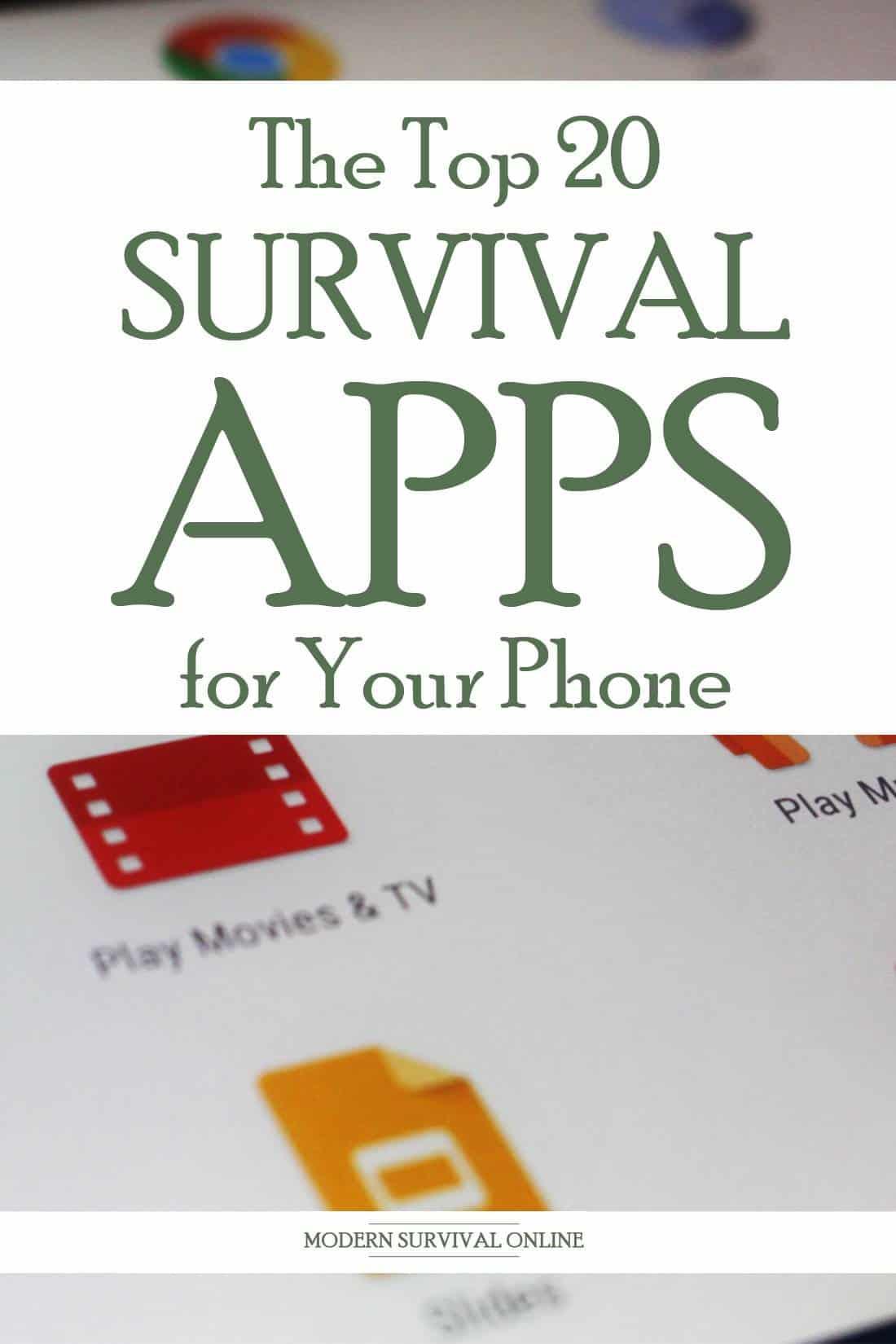 survival apps Pinterest