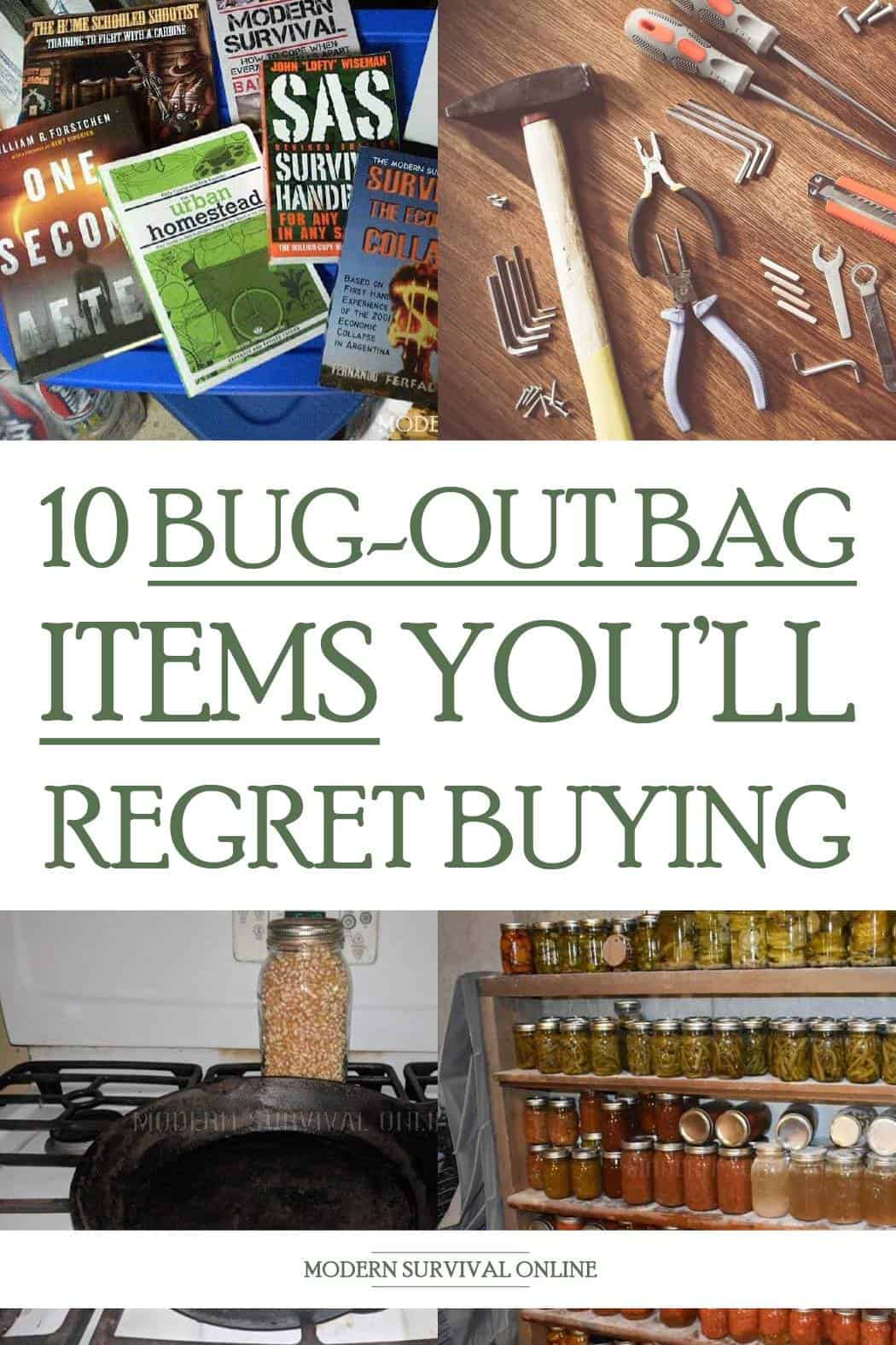 unwanted bug out bag items pinterest image