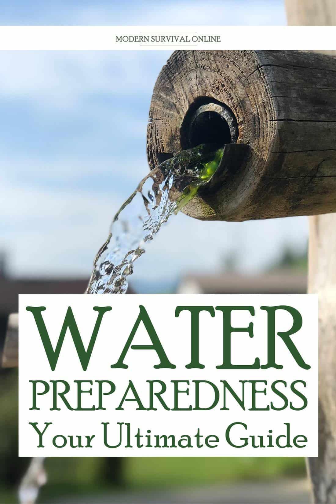 water prepping Pinterest image