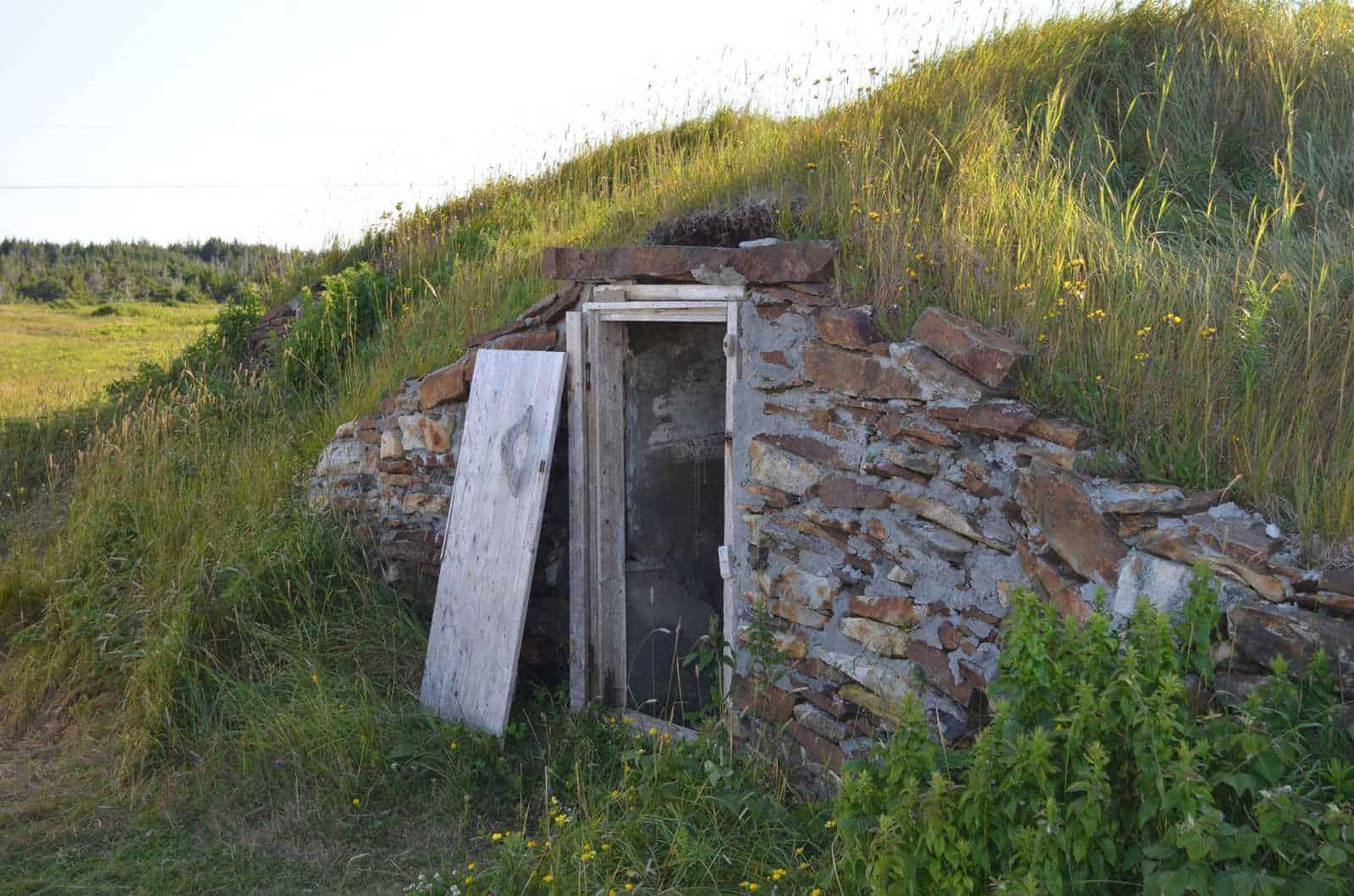root cellar inside hillside