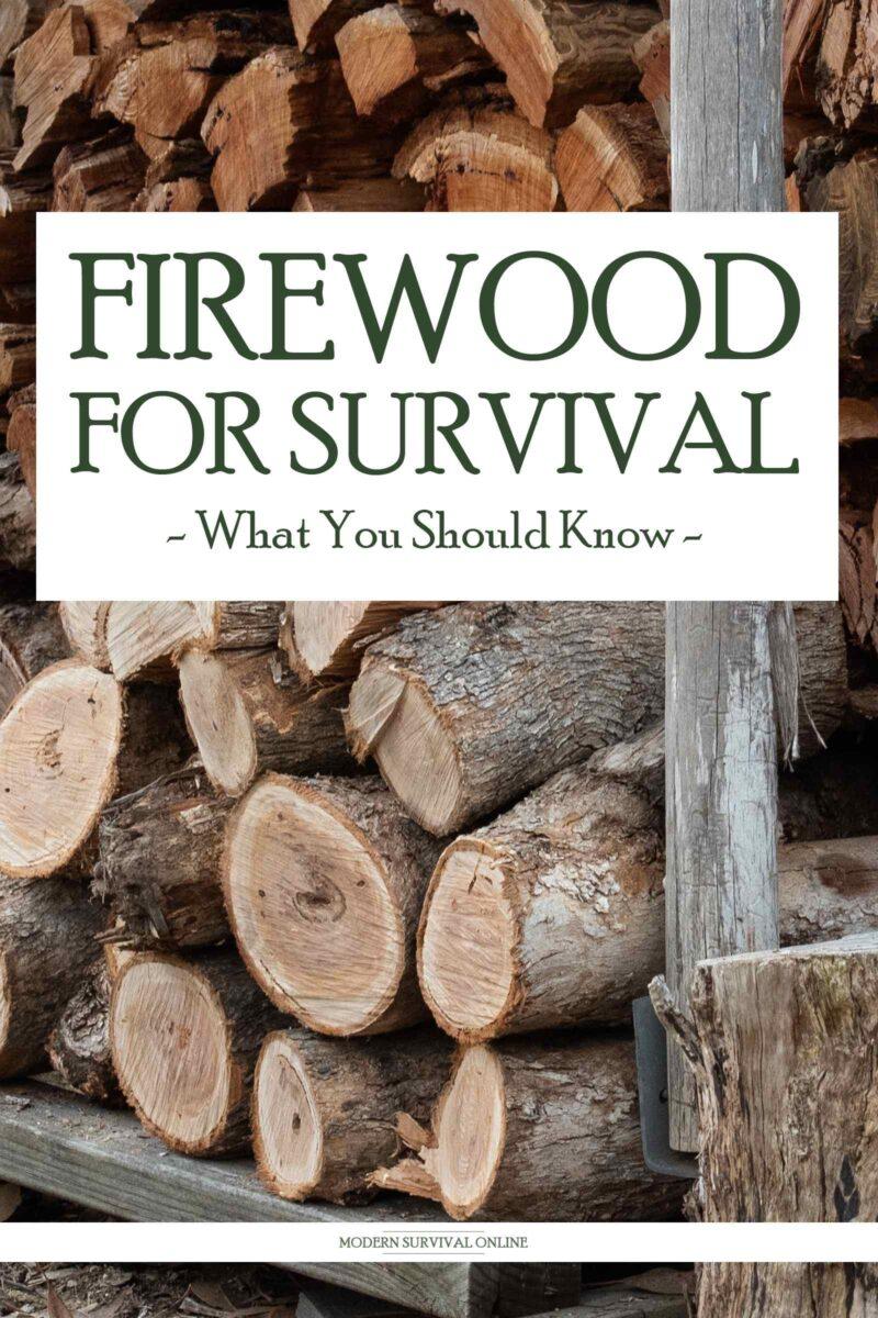 survival firewood pinterest image